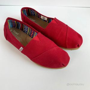 Toms Red Classic Slip On